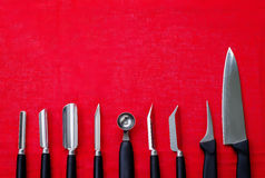 Tools for carving Royalty Free Stock Photo