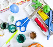 Tools for children's art Royalty Free Stock Image