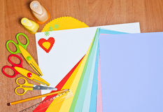 Tools for children's creativity Royalty Free Stock Image