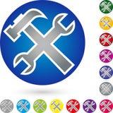 Tools and circle, tools and locksmith logo. Tools and circle, colourful, tools and locksmith logo Royalty Free Stock Photography