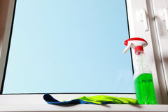 Tools for cleaning windows Royalty Free Stock Images