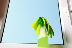 Tools for cleaning windows Stock Photo