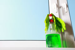 Tools for cleaning windows Stock Image