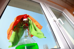 Tools for cleaning windows Stock Images
