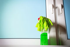 Tools for cleaning windows Stock Photos