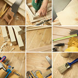 Tools collage Stock Photo