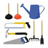 Tools collection design. Equipment set Stock Images