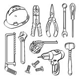 Tools Collection Royalty Free Stock Photos