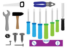 Tools collection isolated Stock Photos