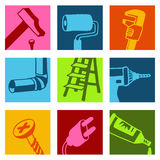 Tools color icons 1. Vector hand drawn and designed illustrations vector illustration