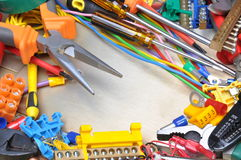 Tools and component kit Stock Photography