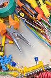 Tools and component kit Royalty Free Stock Photography