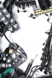Tools and component kit for use in electrical installations Stock Image