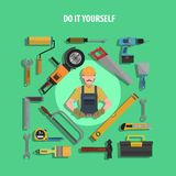 Tools Concept Flat Illustration Royalty Free Stock Images