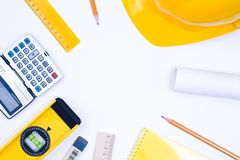 Tools for construction and architecture Royalty Free Stock Photos