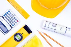 Tools for construction and architecture Stock Photos
