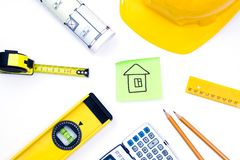 Tools for construction and architecture Stock Images