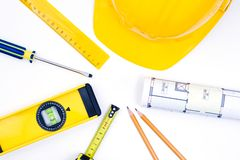 Tools for construction and architecture Stock Image