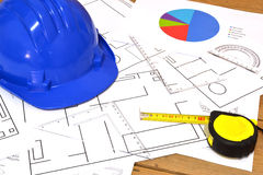Tools for construction drawings Royalty Free Stock Photography