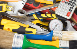 Tools and construction equipment Royalty Free Stock Photos