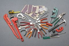 Tools construction set Stock Photos