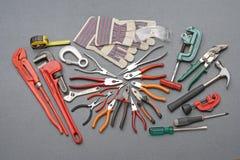 Tools construction set stock photos
