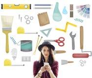 Tools Craftsmen Hobby Reoairment Equipment Concept Stock Photography