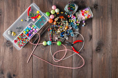 Tools for creating fashion jewelry in the manufacturing process Stock Photography