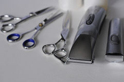 Tools for cutting hair stock image