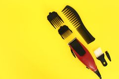 Tools for cutting hair stock images