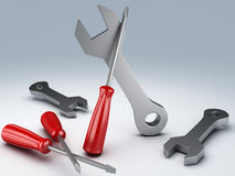 Tools 3d Royalty Free Stock Photography