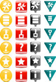 Tools and data base icon. Tools and data base  set of 24 Icon Stock Photo
