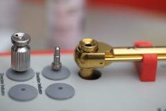 Tools for dental prosthetist drill box set Stock Images