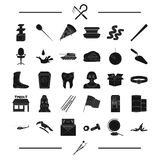 Tools, dentist and other web icon in black style.Egypt, equipment icons in set collection. Stock Photo