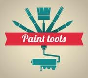 Tools design. Over beige background, vector illustration Royalty Free Stock Image