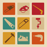 Tools design. Over beige background, vector illustration Royalty Free Stock Images