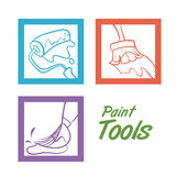Tools design. Over white background, vector illustration Royalty Free Stock Photos