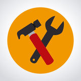 Tools design. Over white background, vector illustration Stock Images