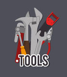 Tools design, vector illustration. Stock Image