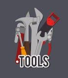 Tools design, vector illustration. Stock Image