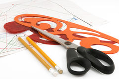 Tools designer clothes Royalty Free Stock Photos