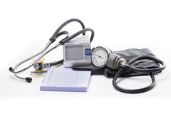 Tools for Diagnosis and Treatment of High Blood Pressure Royalty Free Stock Image