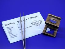 Tools for Diamond industry. Tools used in the Diamond industry Stock Photo