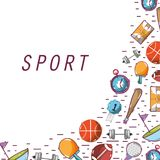 Tools of different sports games. Vector illustration design Stock Photos