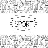 Tools of different sports games. Vector illustration design Royalty Free Stock Image