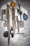 Tools diggers quarries. Hadji mushkay. Crimea. September 2015 Royalty Free Stock Photography