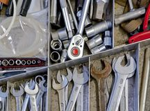 Tools in drawer Royalty Free Stock Photos