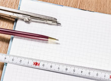 Tools for drawing and measuring Stock Photography