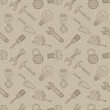 Tools drawing seamless background Stock Image