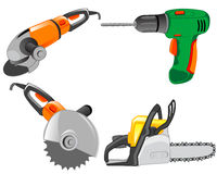 Tools electric for work on house Royalty Free Stock Image